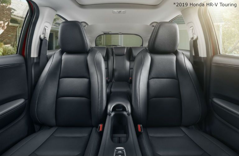 2019 Honda HR-V Touring with Black interior view of seating from front to back