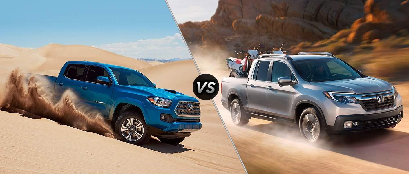 2017 Toyota Tacoma vs 2018 Honda Ridgeline