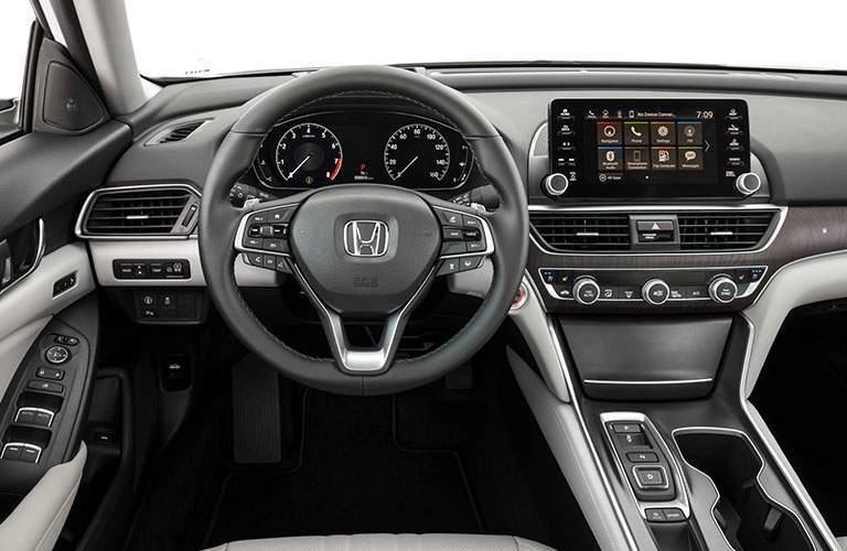 Steering wheel and dashboard of 2018 Honda Accord