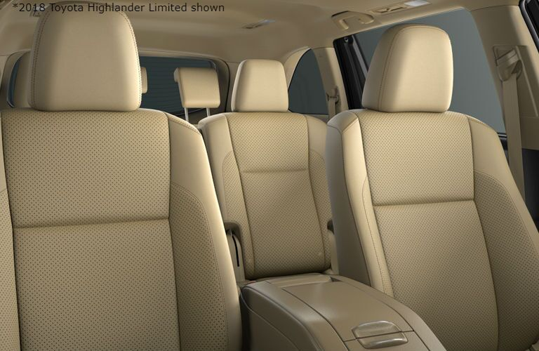 2018 Toyota Highlander Limited view of seating