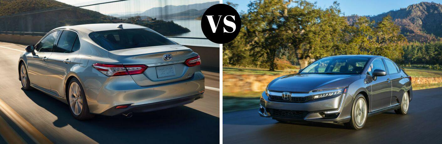 2018 Toyota Camry Hybrid vs 2018 Honda Clarity Plug-In Hybrid