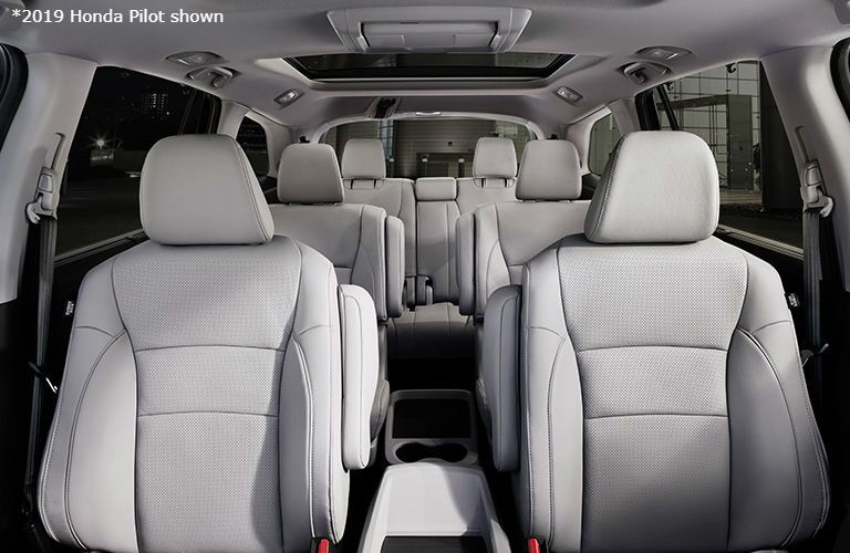 2019 Honda Pilot view of seating from front to back