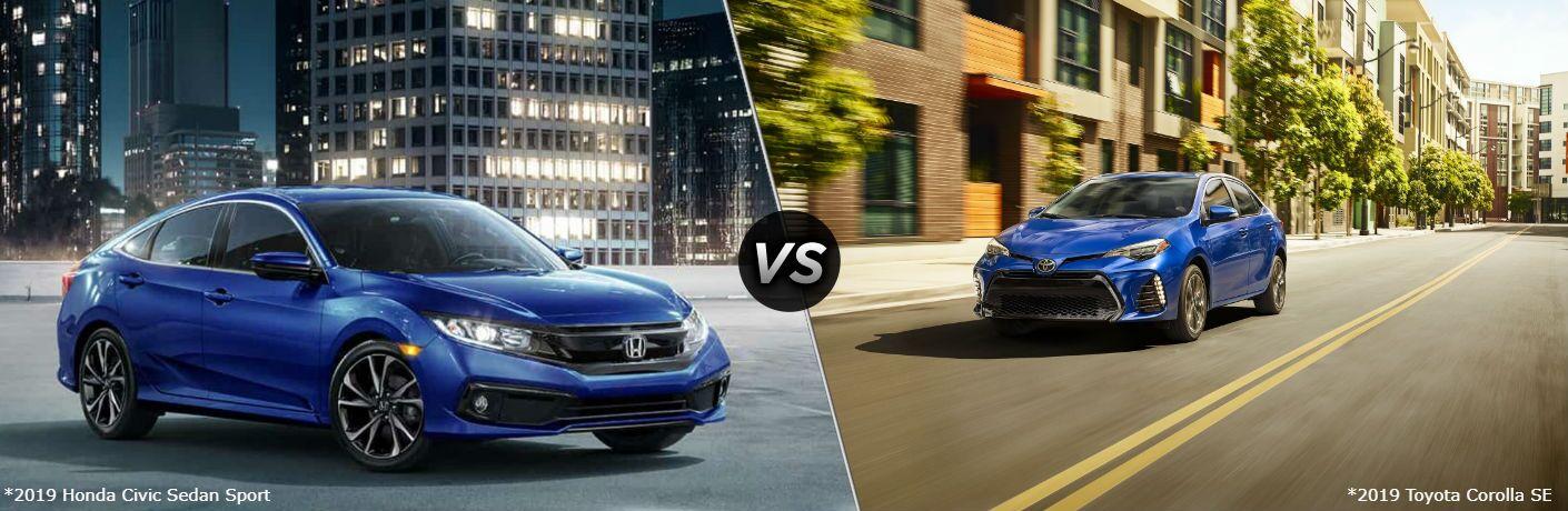 2019 Honda Civic Sedan Sport vs 2019 Toyota Corolla SE