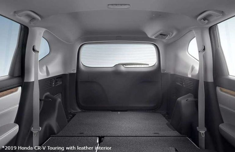 2019 Honda CR-V Touring with available leather interior cargo space