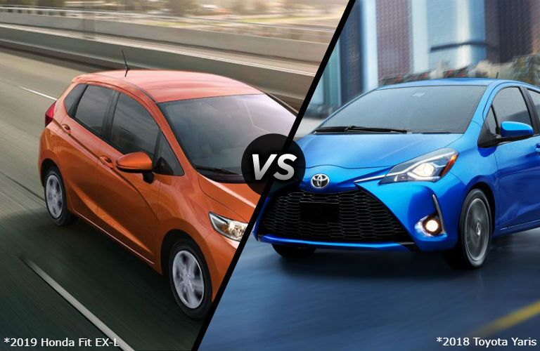 2019 Honda Fit EX-L vs 2018 Toyota Yaris