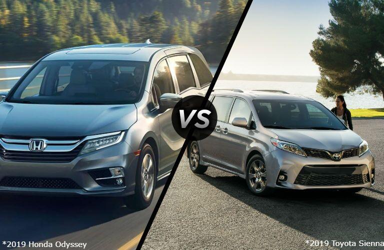 2019 Honda Odyssey vs 2019 Toyota Sienna