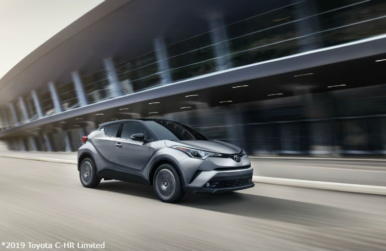 2019 Toyota C-HR Limited in Silver Knockout Metallic R-Code Black driving