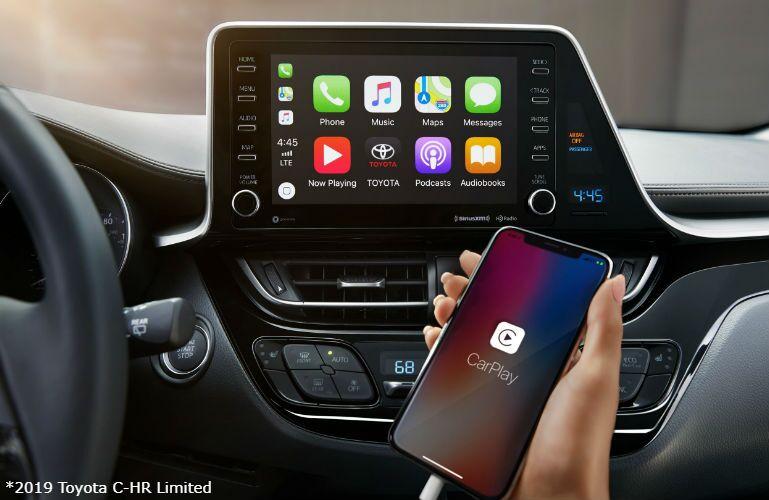 2019 Toyota C-HR Limited interior with Apple CarPlay
