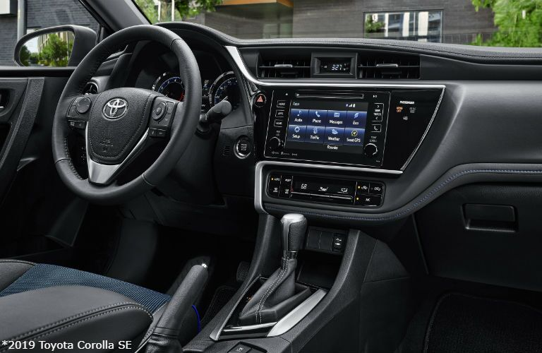 2019 Toyota Corolla SE with Vivid Blue interior and Premium Package