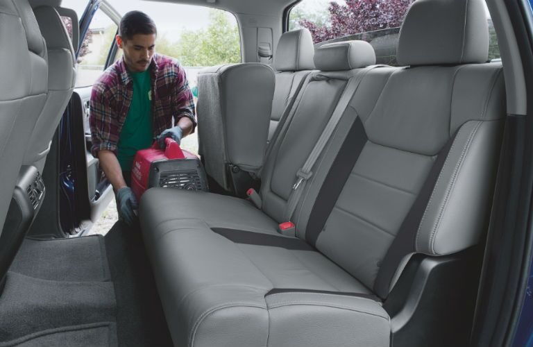 2019 Toyota Tundra with fold up rear seating and underseat storage