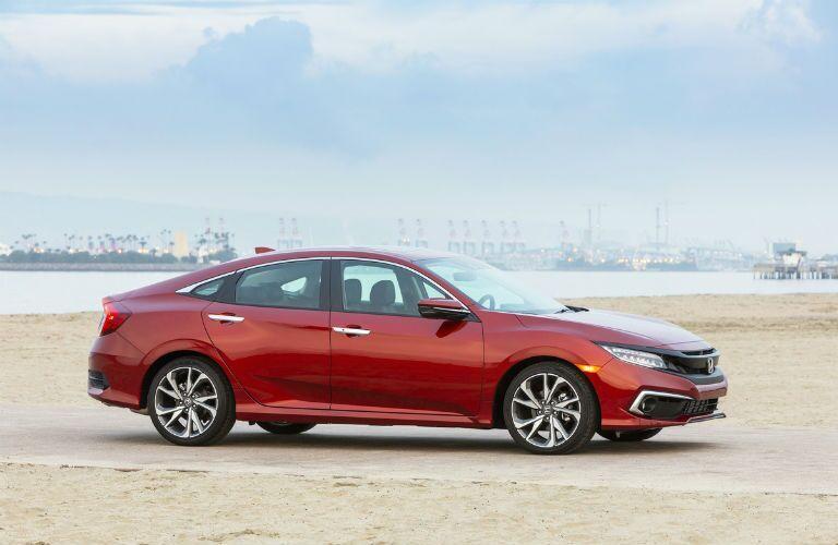 2021 Honda Civic Exterior Passenger Side Front Profile