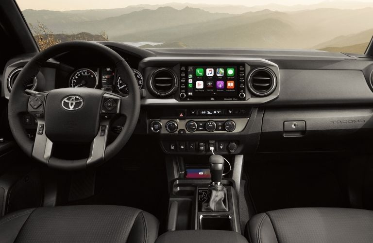 2021 Toyota Tacoma steering wheel and dashboard