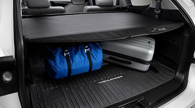 Cargo cover in a Toyota Highlander