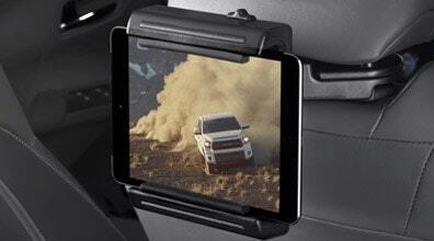 Mounted tablet holder in a Toyota Highlander