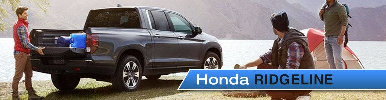 2017 Honda Ridgeline tailgate being loaded
