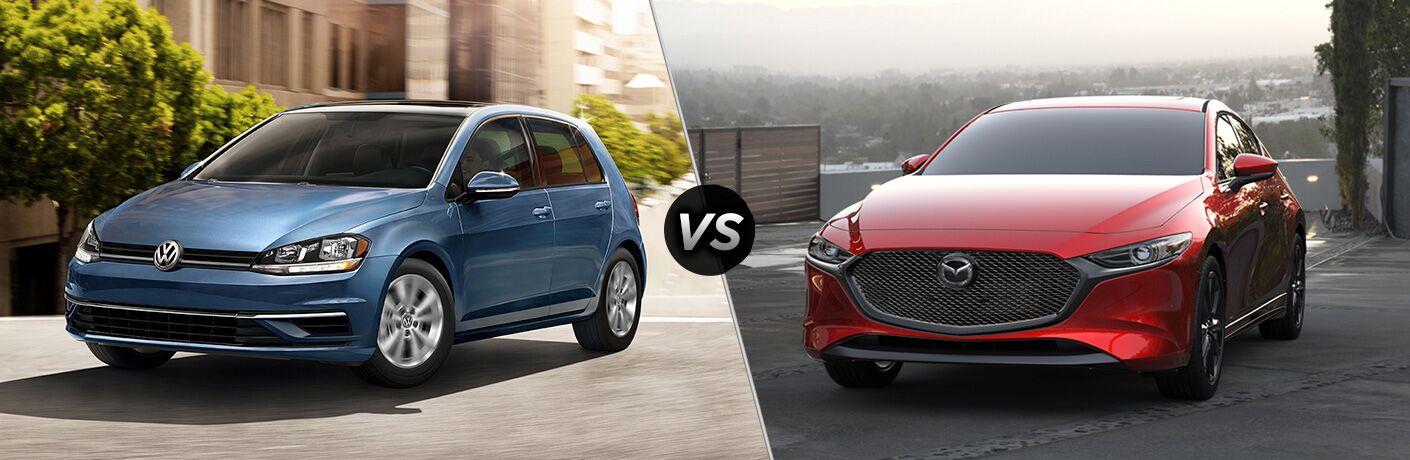 2020 Volkswagen Golf vs 2020 Mazda3 Hatchback comparison image