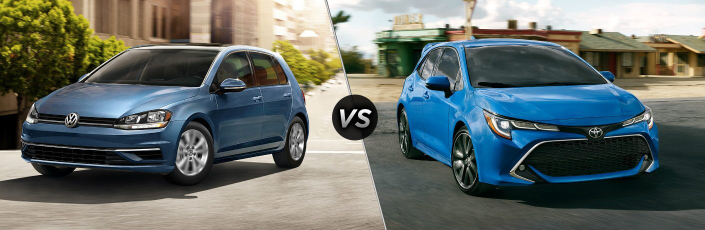 2020 Volkswagen Golf vs 2020 Toyota Corolla Hatchback