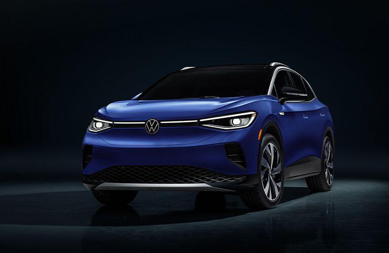 2021 Volkswagen ID.4 blue front view