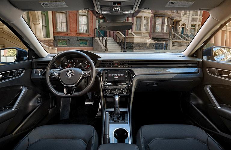 2021 VW Passat dashboard and steering wheel