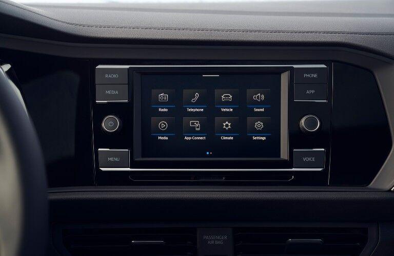 2021 Volkswaen Jetta interior close up on infotainment screen