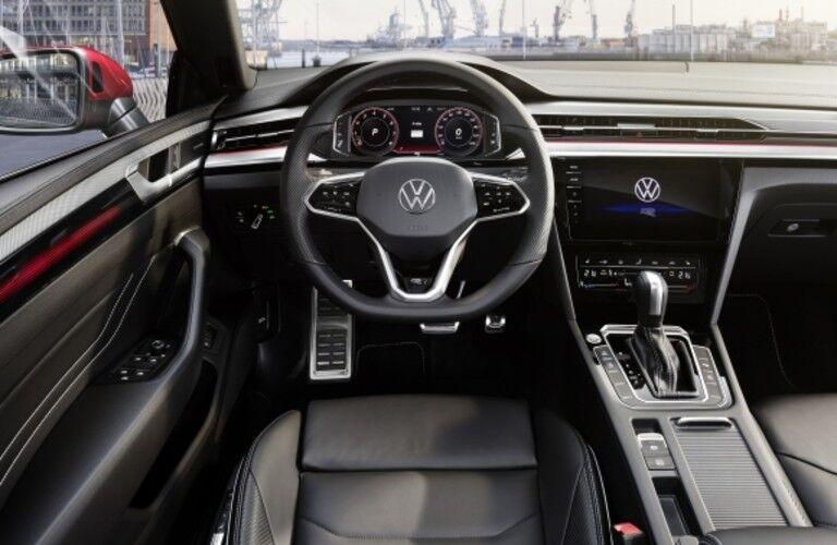 2021 Volkswagen Arteon interior direct view of steering wheel