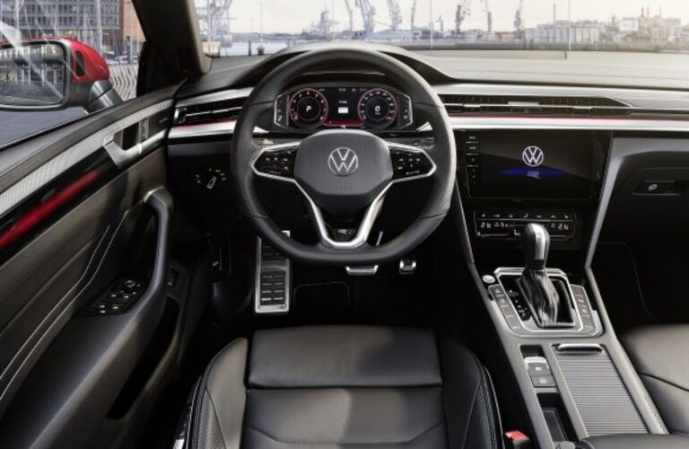 2021 Volkswagen Arteon interior direct view of steering wheel