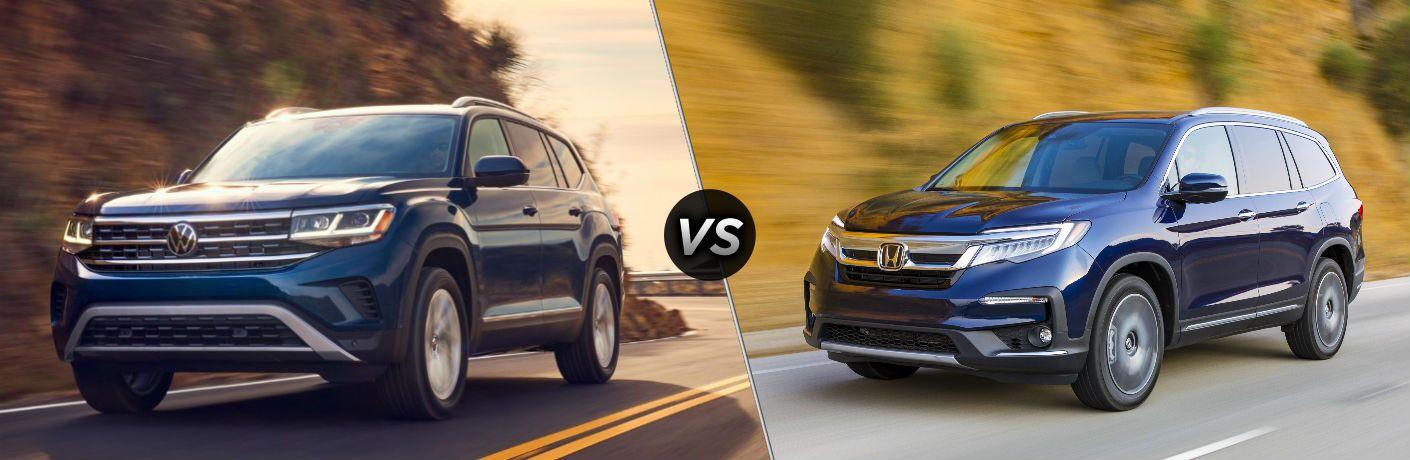2021 Volkswagen Atlas vs 2021 Honda Pilot comparison image
