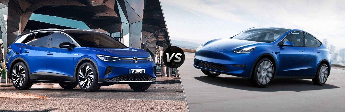 2021 Volkswagen ID.4 vs 2021 Tesla Model Y comparison image