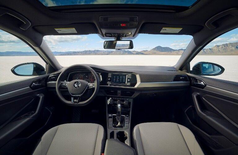 2021 Volkswagen Jetta interior wide view of front cabin