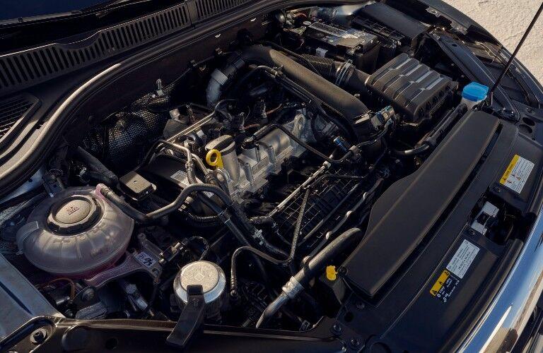 2021 Volkswagen Jetta open hood engine compartment