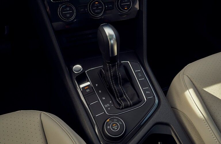 2021 Volkswagen Tiguan interior close up on shifter