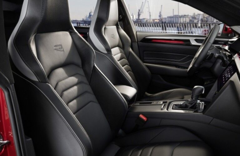 2021 Volskwagen Arteon interior viewed through open passenger door