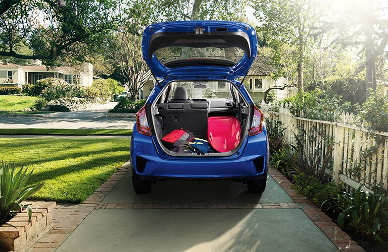 2016 Honda Fit fold down rear seat