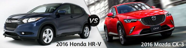 2016 Honda HR-V vs 2016 Mazda CX-3
