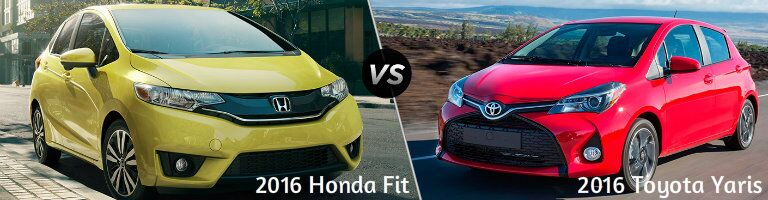 2016 Honda Fit vs 2016 Toyota Yaris