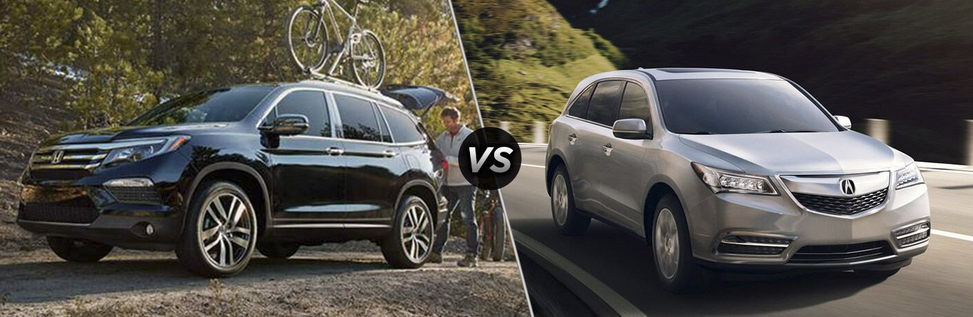2016 Honda Pilot Touring vs 2016 Acura MDX Base