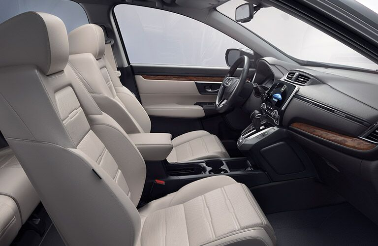 2017 Honda CR-V interior view with tan seats