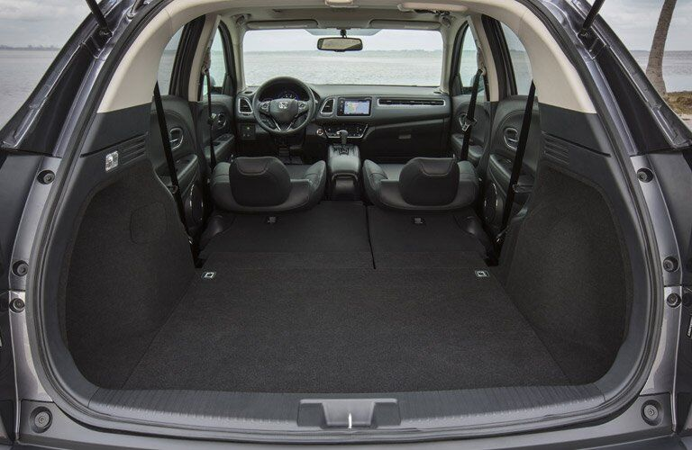 2017 Honda HR-V with all seats folded down
