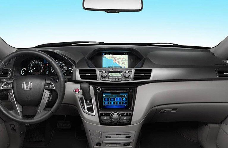 2017 Honda Odyssey dash infotainment system and steering wheel