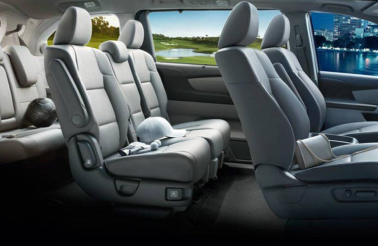 2017 Honda Odyssey three rows of seats