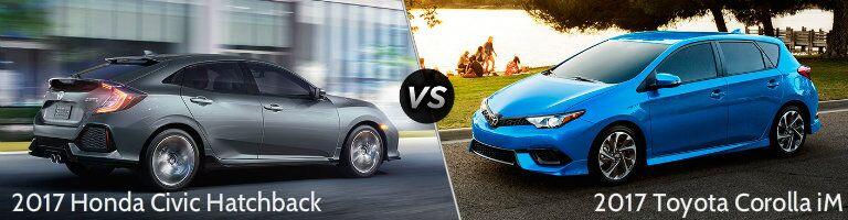 2017 Honda Civic Hatchback vs 2017 Toyota Corolla iM