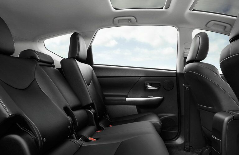 2016 Toyota Prius v interior second row seating