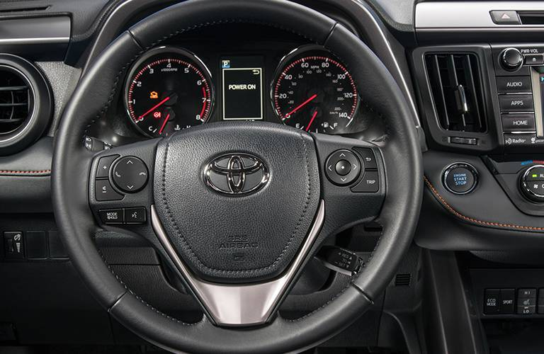 Get the 2016 Toyota RAV4 interior steering wheel controls