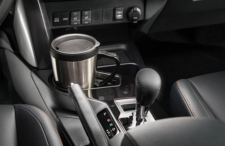 Get the 2016 Toyota RAV4 interior cupholder and gear shifter