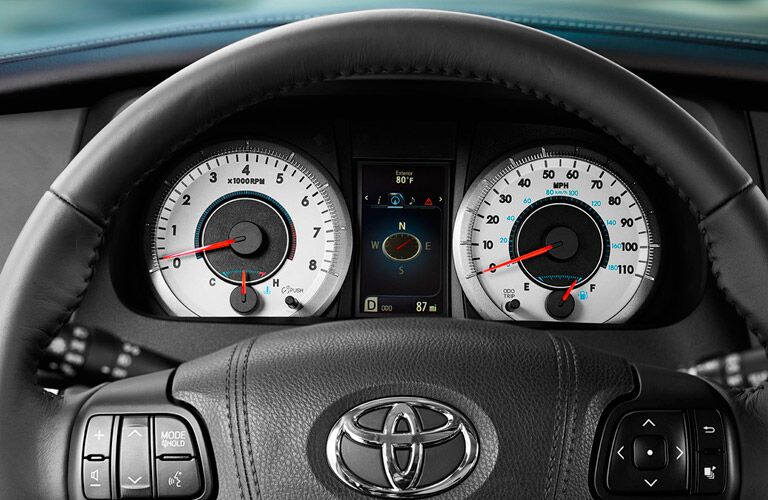 2016 Toyota Sienna interior steering wheel gauge cluster multi-information screen