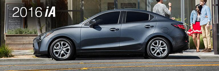 2016 scion ia exterior side gray