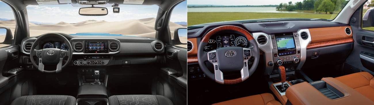 2017 Toyota Tacoma Interior and 2017 Toyota Tundra Interior