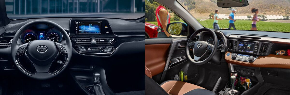 2018 Toyota C Hr Vs. Rav4 Interior