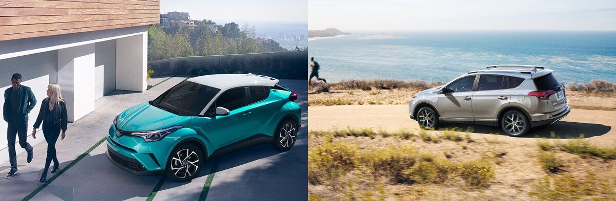 test drive the 2018 toyota c-hr and rav4