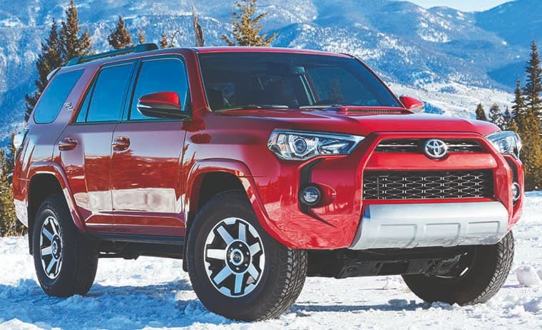 2019 Toyota 4Runner On Snowy and moountainous background